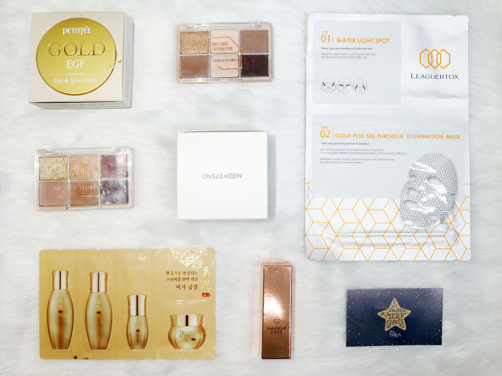 Althea Korea Gold Sparkling Box Haul and Review 2