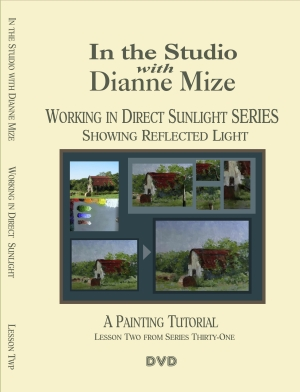 showing reflected light