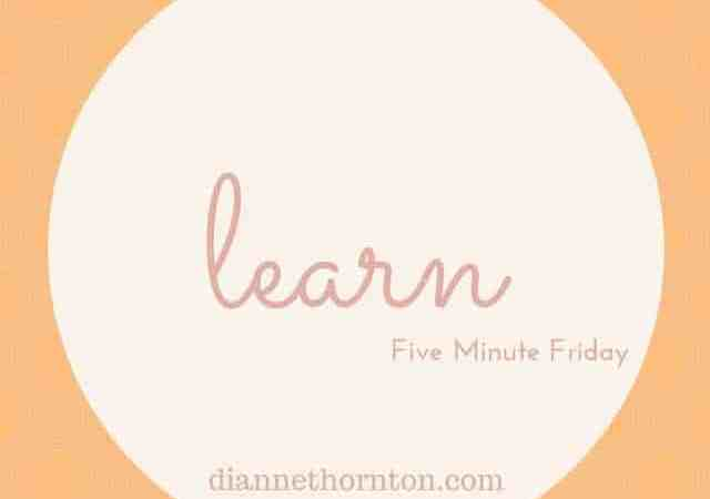 Five Minute Friday:: Learn