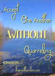 Accept WITHOUT Quarreling PV