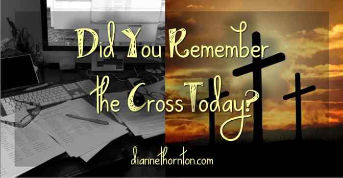 Is your busyness eclipsing your focus? Once your day gets moving, do you take time again to remember the cross? Worship can help you refocus any time.