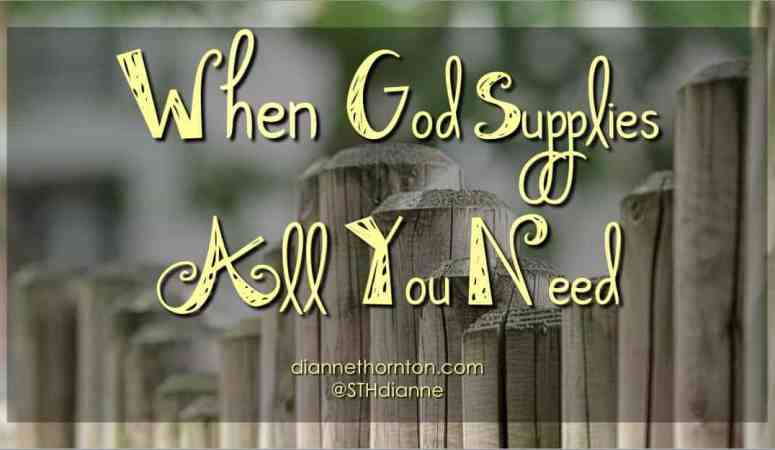 When God Supplies All You Need
