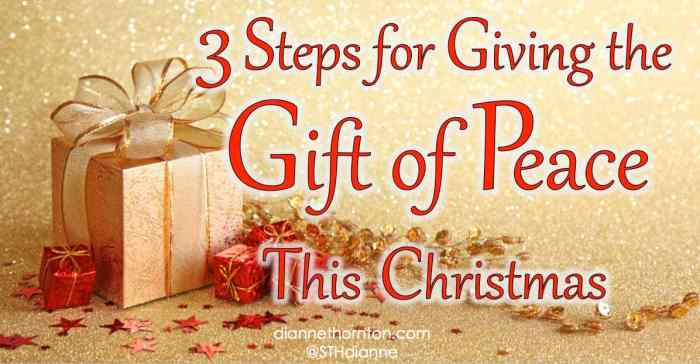 Looking for the perfect gift for your family? Sometimes the best gifts can't be bought. You can bless your family with the beautiful gift of peace.