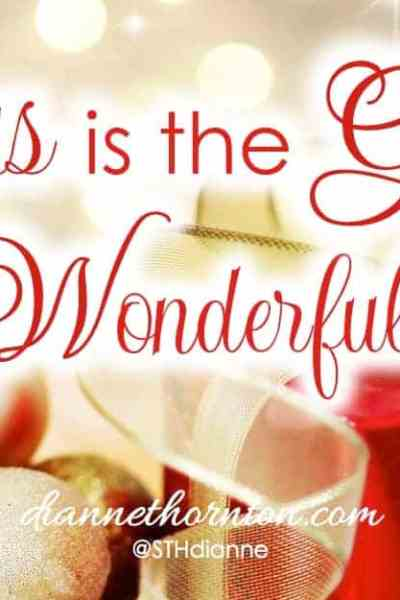 A SON IS GIVEN! Something given is a gift.And His Name is WONDERFUL! JESUS is our Gift of Wonderful. Have you unwrapped WONDERFUL?