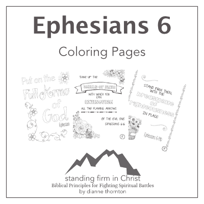 Standing Firm in Christ Coloring Pages
