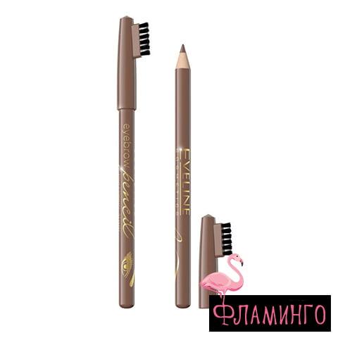 EV Карандаш д/бровей Eyebrow pencil 8601 Светлый коричневый (6/36шт) 1