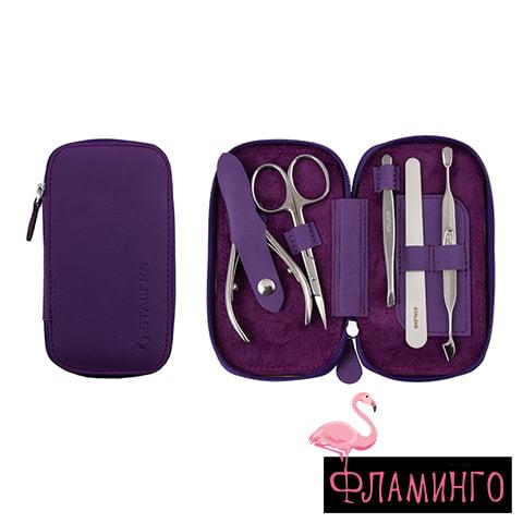 """MS-01 ECO Набор маникюрный """"Basic"""" Eco (фиолетовый) 1"""