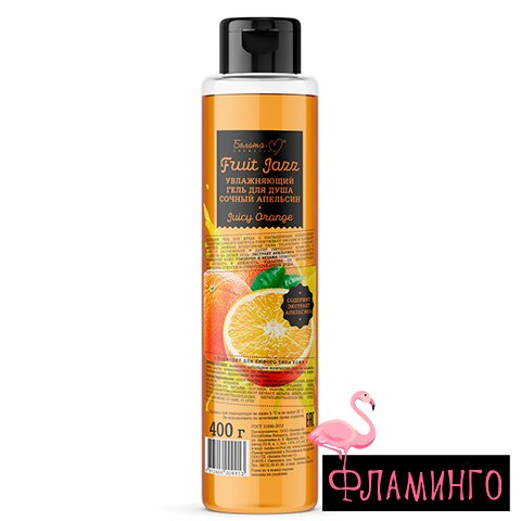 BelМ Fruit Jazz Увлажняющий гель для душа Сочный апельсин 400 г 9913 1