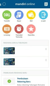 kemudahan transaksi menggunakan Mandiri Online