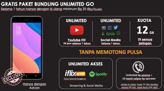Advan S50 4G unlimited