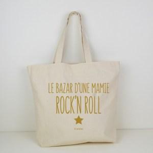 Cabas Le Bazar d'une mamie Rock'n Roll