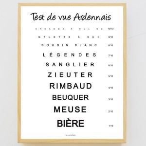 Affiche encadrée Test de vue Ardennais