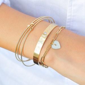 Bracelet U2 – Acier doré