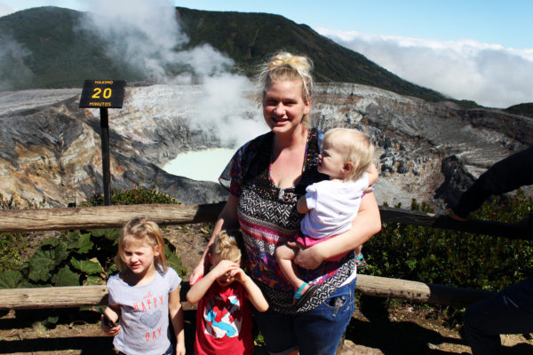 Poás Volcano, Lake Botos, Laguna Caliente, Fog, diapersonaplane, Diapers On A Plane, Traveling with kids, family travel