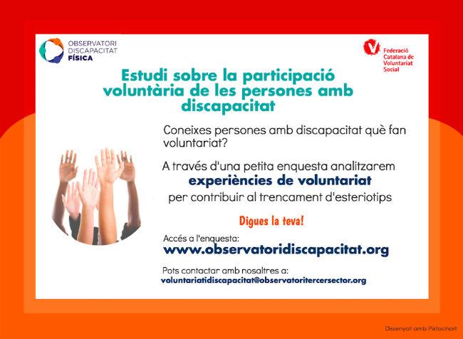 recerca participació voluntària discapacitat odf