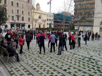 usuaris grandalla ritme cançons flashmob