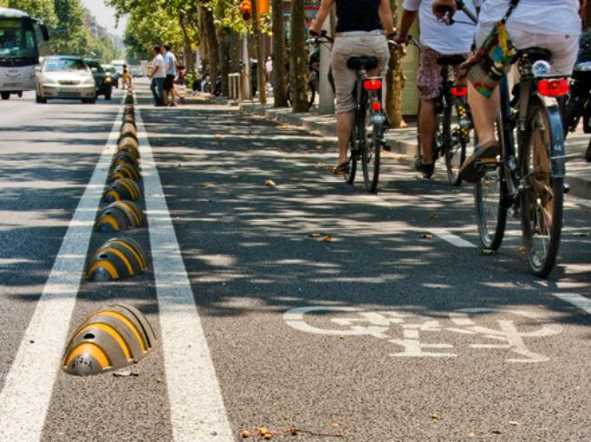 senyals accessibles carrils bici barcelona discapacitat visual