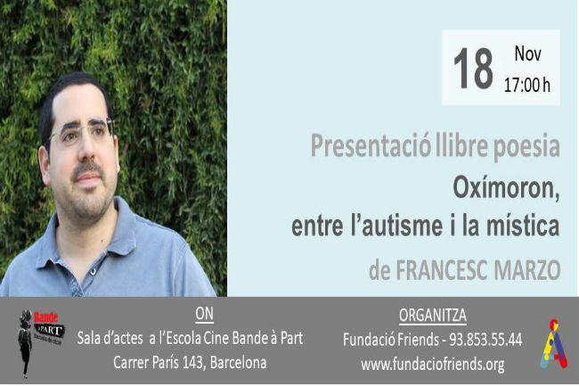 El jove amb Síndrome d'Asperger Francesc Marco presenta el llibre de poesia 'Oximoron'