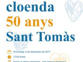 cartell festa sant tomàs tanca 50 aniversari vic