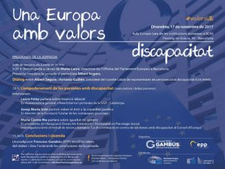 empoderament persones discapacitat jornada valors europeus