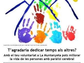 cartell campanya voluntaris La Muntanyeta