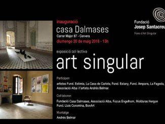 cartell exposicio art singular casa dalmases cervera