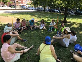 Membres de Fupar participant en la gimcana el juliol del 2017 casals estiu, campus