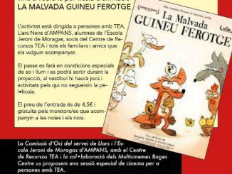 cartell sessió especial cinema persones autisme