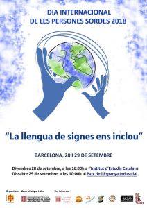 cartell dia persones sordes 2018 llengua signes