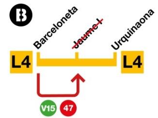 andana estació metro jaume I tancada obres accessibilitat
