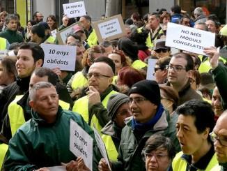 manifestació cets complements salarials salari mínim