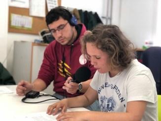 alumnes escola educació especial ampans secció ràdio