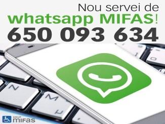 nou servei whatsapp mifas informació entittat