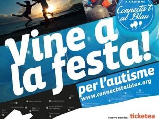 cartell festa connectat blau dia mundial autisme