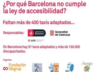 entitats-discapacitat-protesta-denuncia-manca-taxis-adaptats