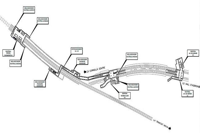planol obres intercanviador metro maragall