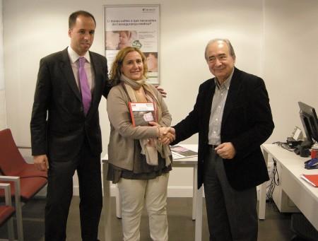 Lliurament del premi 'Vols Guanyar 500 €'. Fotografia de Barnavasi