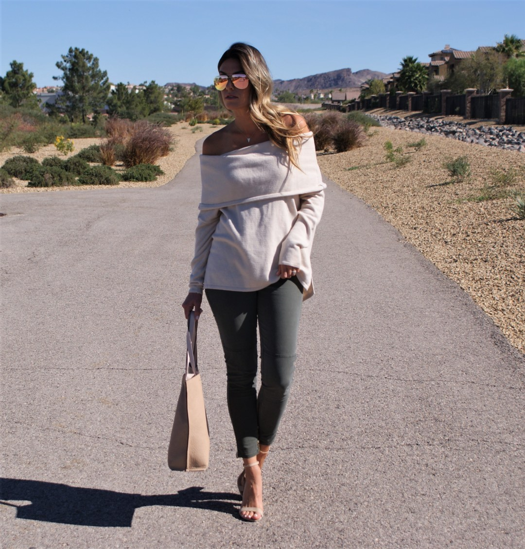 Comfy & Cozy Off The Shoulder Sweater