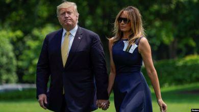 Trump y Melania regresan del Japón