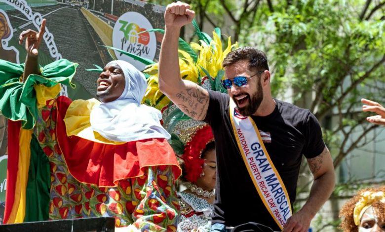 Ricky Martin en el Desfile Puertorriqueño de Nueva York