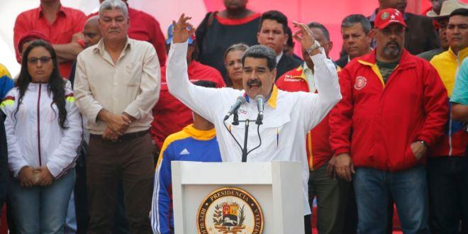 Nicolas Maduro en un acto publico