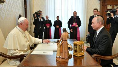 El Papa Francisco y Vladimir Putin en el Vaticano