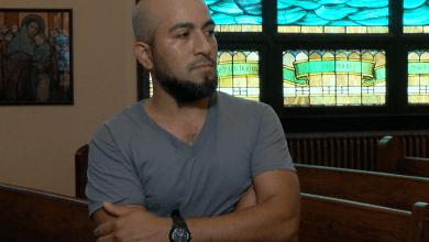 Alex Garcia, refugiado en Santuario en una iglesia de Maplewood, Missouri.