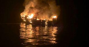Al menos 34 muertos al incendiarse una embarcación en California 2