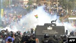 Cinco muertos en choques entre policías y manifestantes en el centro de Bolivia 14