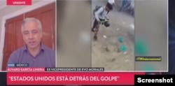 """Photo of Exvicepresidente García Linera: """"En Bolivia hay 32 muertes civiles"""""""