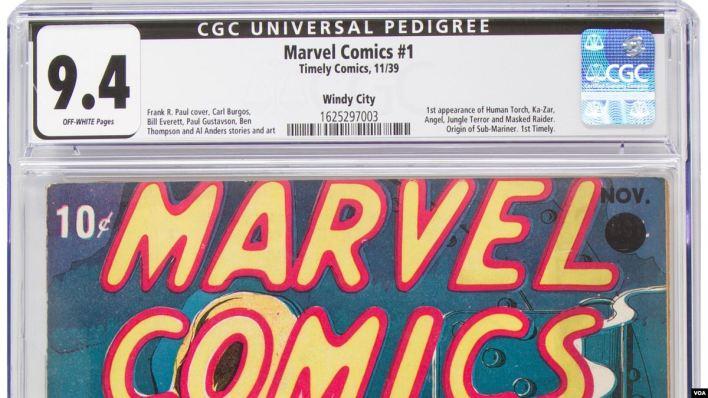 Primer ejemplar Marvel Comics fue subastado en Dallas 4