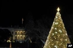 Trump y la primera dama iluminan el Árbol Nacional de Navidad 11