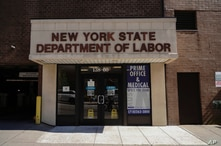 Photo by: John Nacion/STAR MAX/IPx 2020 5/12/20 A view of a New York State Department of Labor during the coronavirus pandemic…