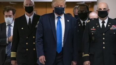 Photo of Presidente Donald Trump usó por primera vez mascarilla en público